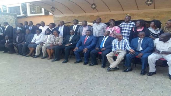 Kenya Secondary School Heads Association Bungoma County branch members in a past meeting with former Governor and current Senate Speaker Ken Lusaka