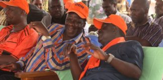 Raila Odinga and Wycliffe Oparanya in a past event