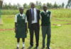 CES Canada Leonard Wandili with the two beneficiaries Juliet Wanangia and Fredrick Wasike