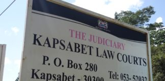 Kapsabet Law Courts where the accused was taken