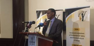Jacob Kaimenyi at inquiry launch