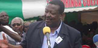 ANC Party leader Musalia Mudavadi at a past function