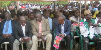 Leaders at the funeral of mama Dinah Nasike