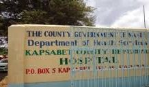 The candidate is doing her KCSE exams in Kapsabet Referral Hospital