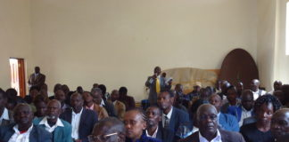Participants at the Municipal Hall in Kapsabet where they gave their views on capital offences and punishment