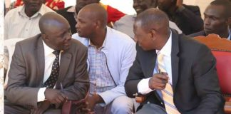 Deputy President William Ruto with West Pokot governor Simon Kachapin