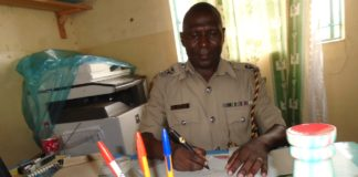 Matete OCPD from Kakamega County Justus Maina, revealing the details of the incident