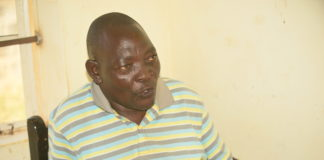 Mulukoba Beach Management Unit vice chairman Alfred Agufwa at their Mulukoba Beach offices