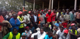 Boda boda operators from Webuye being addressed by Governor Ken Lusaka