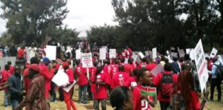The peaceful protest held in Nairobi