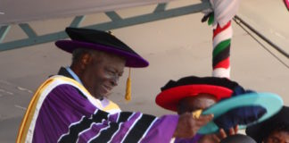 Chancellor Retired President Mwai Kibaki at MMUST Graduation ceremony