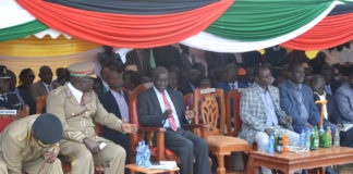 West Pokot leaders during Jamhuri Day celebrations held in Kapenguria