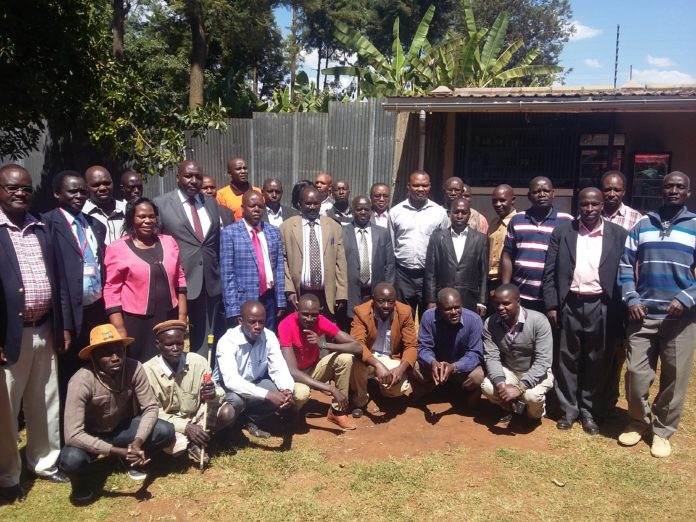 Some of the leaders after the meeting with, where the PS, Livestock Andrew Tuimur addressed the press