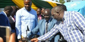 Governor Simon Kachapin during the Ahadi Kenya Trust function, where they urged doctors to go back to work