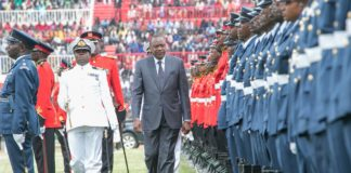 President Uhuru Kenyatta during the Jamhuri Day celebration in Nairobi