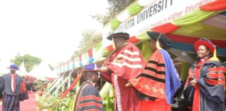 Dr Moses Mwanje Osia during his recent graduation at Jomo Kenyatta University of Agriculture and Technology