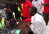 Emgwen aspiring MP Isaiah Gesicho registering as a voter at kapsabet show ground