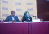 Head of Research and Marketing Hass Consult Sakina Hassanali addressing the press about land prices