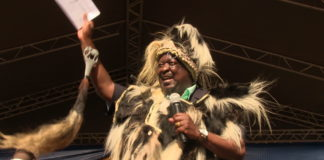 Mudavadi addressing the crowd after being named the Luhya spokesperson