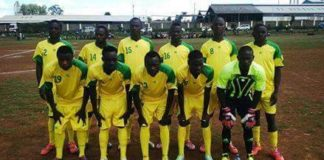 Vihiga United players moments before a game