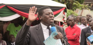 Water CS Wamalwa Eugene has been urged by leaders to join the Trans Nzoia gubernatorial race