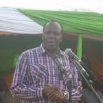 Kakamega governor Wycliffe Oparanya addressing residents in a past function
