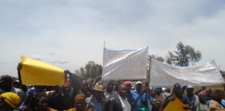 Lugari, Likuyani, and Turbo IDPs during the protest