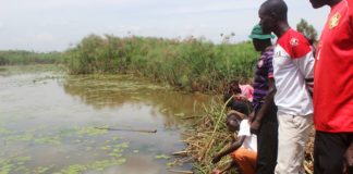 Munongo residents marvel at the water body in the area