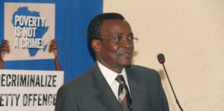 Chief Justice David Maraga speaking at the ICJ conference