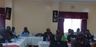 Peace committee members from Nandi County in the forum