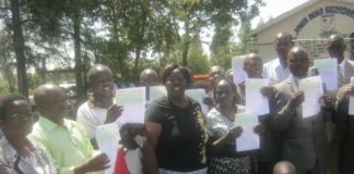 Bungoma Women Representative Dr. Reginalda Wanyonyi with some of the beneficiaries