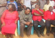 Jubilee leaders at Ndalu, from left Reginalda Wanyonyi, John Waluke, Governor Ken Lusaka and Bonface Otsiula