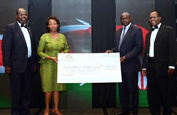 Kenya Bankers Association (KBA) have awarded a Ksh 4 million grant to empower youth in Kenya
