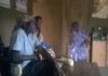 Mrs. Esther Onzere far right with other members of the bereaved family in Likuyani