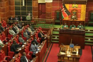 National Treasury CS Henry Rotich giving his Budget address in parliament