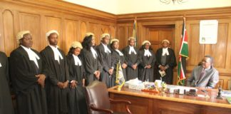 Chief Justice David Maraga with the advocates