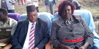 Kapenguria MP Samuel Moroto and West Pokot Women Representative Regina Nyeris
