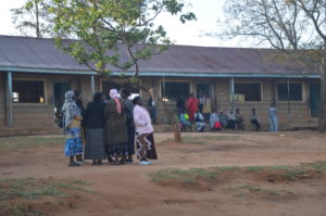 Residents waited for long in stations for the voting material