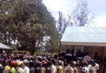 Voting in Kabuchai constituency during FORD Kenya primaries, at Mukhweya polling station