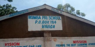 Ikumba Primary school, one of the voting centres for the ANC party primaries in Vihiga Constituency