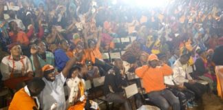 NASA supporters and members attending the party meeting at the Bomas of Kenya