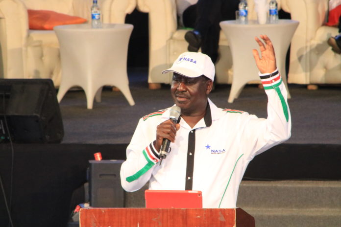 NASA presidential candidate and ODM party leader Raila Odinga. FILE PHOTO