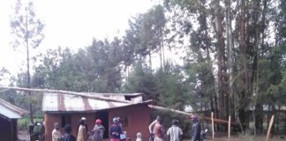 One of the affected houses in Koromaiti after the heavy downpour