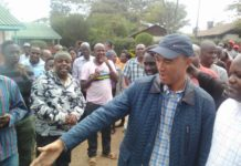 Nairobi Jubilee Gubernatorial aspirant Peter Kenneth after casting his vote