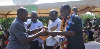 Sabatia MP Alfred Agoi (Right) has urged competitors who want to unseat him to brace for a tough battle