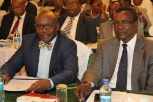 Chief Justice David Maraga and Attorney General Githu Muigai during the training of 92 gazetted magistrates to handle election offences recently