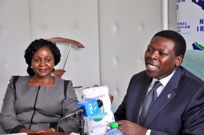 Water and Irrigation Cabinet Secretary Eugene Wamalwa revealed that flour from Galana Kulalu irrigation scheme will go for Sh.75 per two Kgs packet