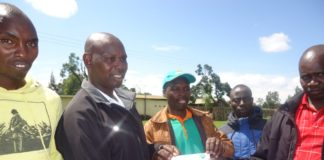 Kapsabet ward MCA Fredrick Kipkemboi after submitting his nominations papers to IEBC. He was cleared to vie for the post