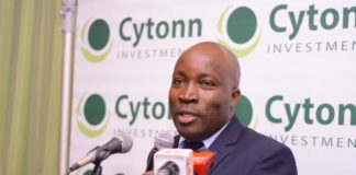 Investments Manager at Cytonn Maurice Oduor during the launch of the report