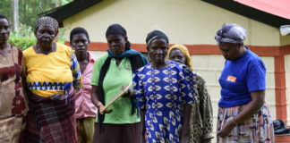 Relatives of the deceased at his home at Giruani Village in Hamisi Sub County